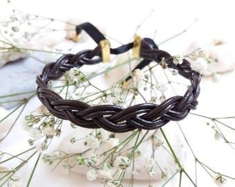 Handmade braided leather friendship bracelet