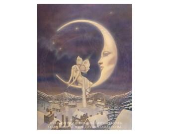 The Snow Fairy 11x14 inch fairy art poster by David Delamare