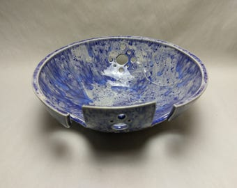 YARN BOWL - Plum Jelly Double Spiral Cut - Hand Made Ceramic #776