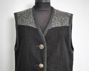 Vintage PETRESSA wool vest, women's wool vest......(054)