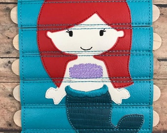 Mermaid Stick Puzzle DIGITAL Embroidery Design