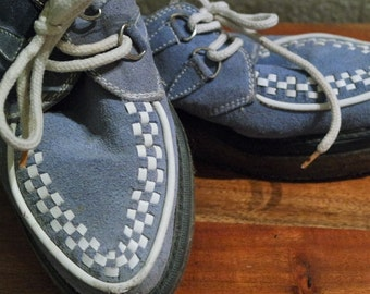 FLUEVOG Blue Suede Shoes CREEPERS New Low Price!!! (w) Size 7
