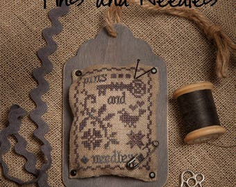 """Kit and Pattern: Tag Trio """"Pins and Needles"""" by Jeannette Douglas Designs"""