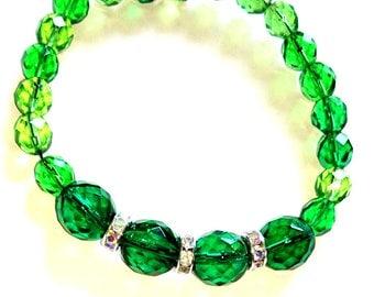 Green Diamante Bracelet