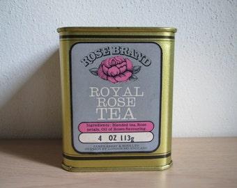 Rose Brand Royal Rose Tea Tin