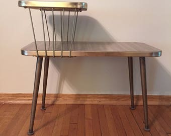 Mid Century Formica End Table
