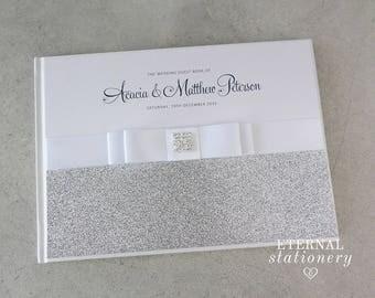 """Wedding Guest book, Hardcover - """"Acacia"""""""