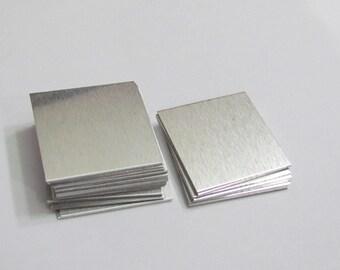 1 x 1 Square Blanks//Aluminum blanks - 22 gauge // Hand stamping metal disc //Stamping Supplies//hand stamping blanks