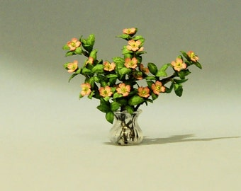 1/2 inch scale miniature-Dogwood Stems in a Vase