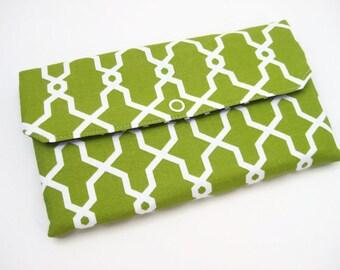 Womens Wallet | Bifold wallet | Fabric Wallet- Reispeices | Greenery