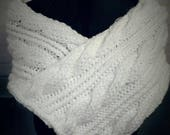 Cable Knit WeddingBridal Shawl