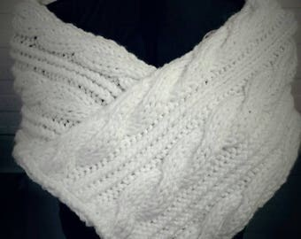 Cable Knit Wedding/Bridal Shawl
