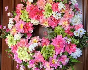 Front Door Wreath, Summer Wreath, Wreaths for Front Door, Daisy Wreath, Summer Front Door Wreath, Wreaths, Spring & Summer Wreath