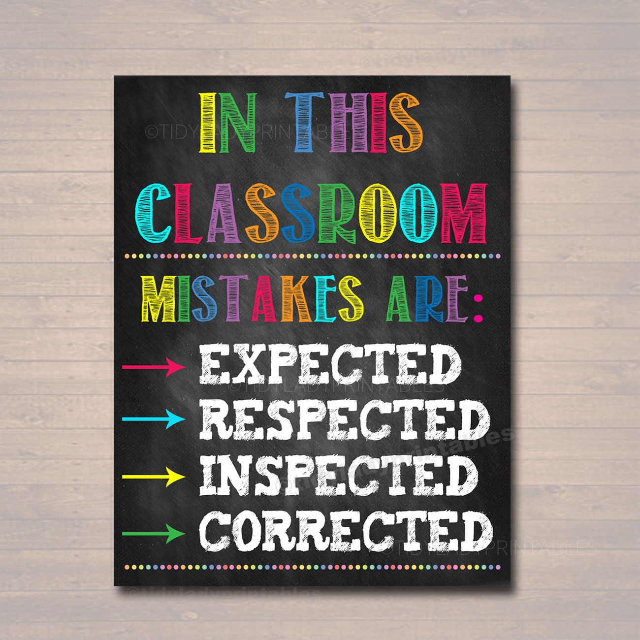 Classroom Decor Posters ~ Classroom decor mistakes are proof you re trying poster