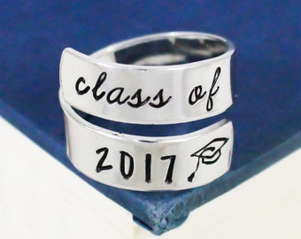 Class of 2017 Wrap Ring - Graduation Gift
