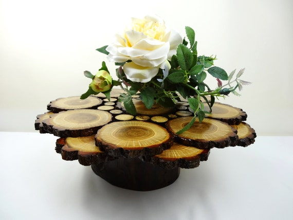 14 g teau de mariage stand centre de table par daliaswoodland. Black Bedroom Furniture Sets. Home Design Ideas