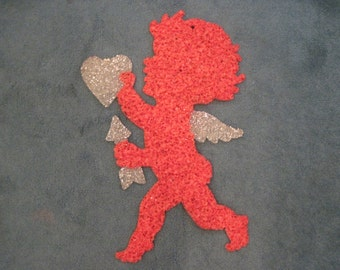 Valentines Day-Large Cupid Melted Plastic Popcorn Wall Hanging