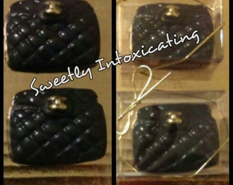 "12CT Chanel inspired Oreo cookie purse favors. Bridal shower Mothers""s Day, birthday favors, candy buffet."