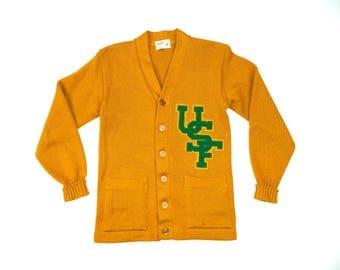Vintage USF Wool cardigan sweater