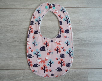 Bib with forest animals
