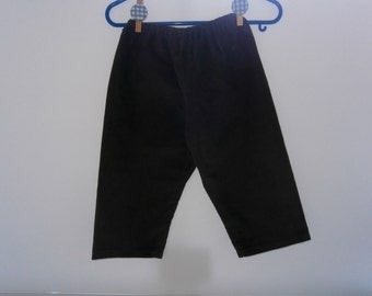 Hand Made Dark Green Corduroy Trousers for 12/18 months with elasticated waist
