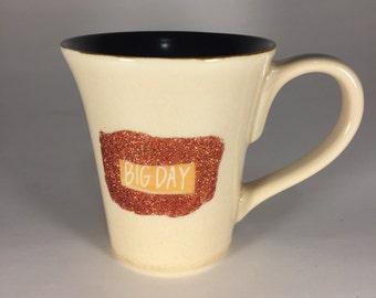 Big Day glitter mug // dishwasher safe! // holds 10 ounces