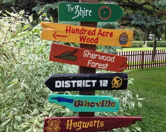 12 Pack Wooden Directional Signs  - Choose any 12 signs listed in our shop