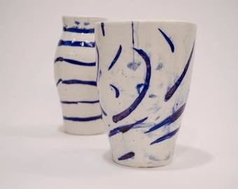 Porcelain and Cobalt vase set