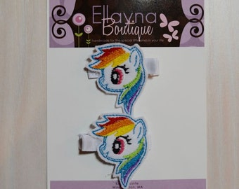 Felt Hair Clips - My Little Pony, Rainbow Dash