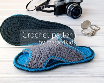 CROCHET PATTERN - men clogs,slippers,scuffs,slip ons,loafers,footwear,adult,men,teen boys,gift for him,summer,basic stitches