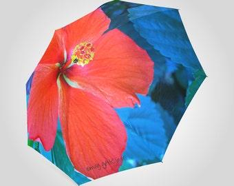 Mother's hibiscus plant umbrella