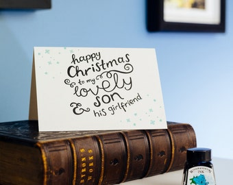 To My Son & His Girlfriend Letterpress Christmas Card