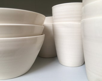 SALE -- porcelain soup or cereal bowl