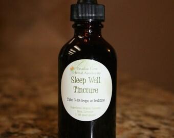 Sleep Well Tincture | Organic | Herbal Sleep Aid