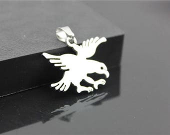 2 pcs 31x24mm Stainless Steel Eagle Charms  Pendants