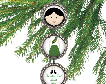 SALE! Scout Leader Christmas Ornament -  Personalized Christmas Ornament