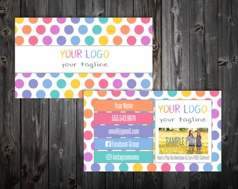 Business Cards - Polka Dots
