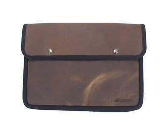 Brown Pullup Leather Macbook Laptop Sleeve
