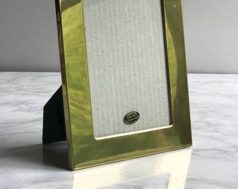 Solid Brass Picture Frame / Solid Brass Photo Frame / Vintage Brass Frame