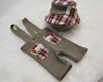 Newborn Boy Set; Newborn Fisherman Hat; Newborn Hat Prop; Newborn Pants Prop; Baby Boy Outfit; Newborn Outfit Prop; Newborn Photo Prop