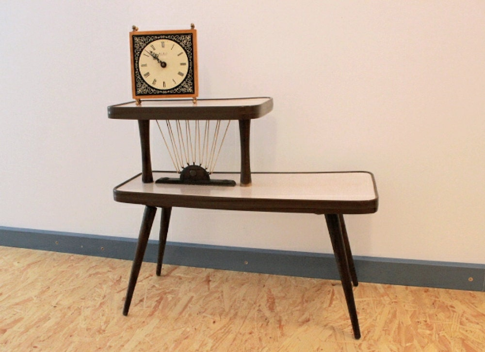 vintage 50s mid century plant stand flower bench mid mod. Black Bedroom Furniture Sets. Home Design Ideas