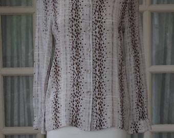Vintage Ravens Blouse Size 10/12 1990s Shirt