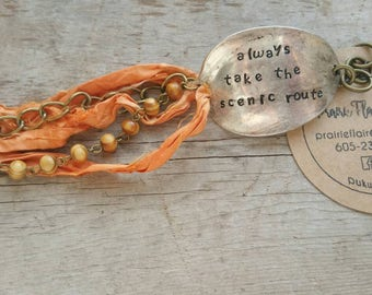 Always Take the Scenic Route- silk bracelet
