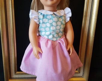 SALE  Sun Dress to fit American Girl Doll or 18in Doll's