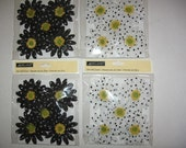 Fabric Flowers, set of 4 with 5 flowers in new unopened package,wreaths, hair bows, floral, corsages, bouquets, hats, fascinators, millinery