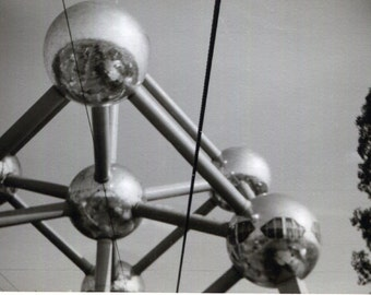 Vintage Photo..Atomium, 1950's Original Found Photo, Vernacular Photography