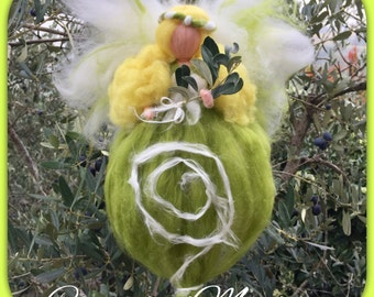 Easter Fairy in fairytale wool. Waldorf. Made to order