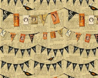 Halloween banner, Halloween pennantsFabric, Halloween Fabric, Witchy Collection from STudio E