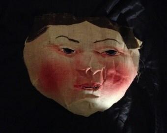 Antique Canvas Halloween Mask