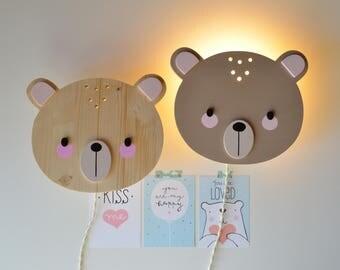 Children and nursery bear lamp
